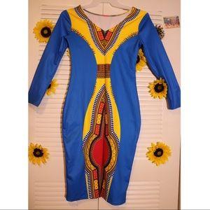 NWT African Print Dress Ankara